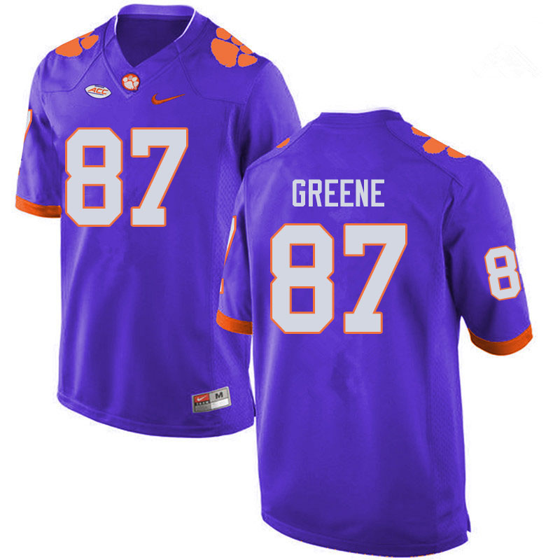 Men #87 Hamp Greene Clemson Tigers College Football Jerseys Sale-Purple